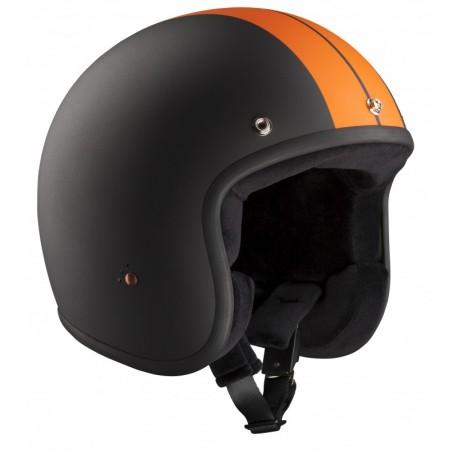 Casque Bandit Helmets Jet Race ECE homologué orange noir mat