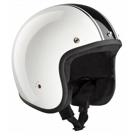 Casque Bandit Helmets Jet Classic ECE homologué blanc et noir