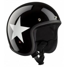 Casque Bandit Helmets Jet Star ECE homologué noir brillant avec étoiles