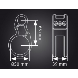 Bracelet seul décalé ABM Multiclip 50mm