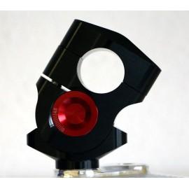 Pontets de guidon Vario ABM diamètre 22mm noir