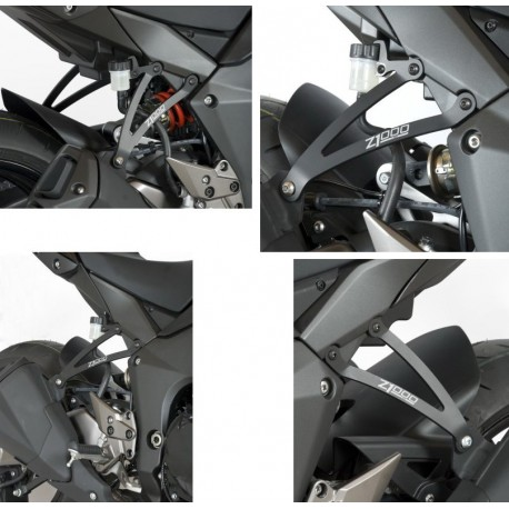 Supports de silencieux R&G Racing double Kawasaki