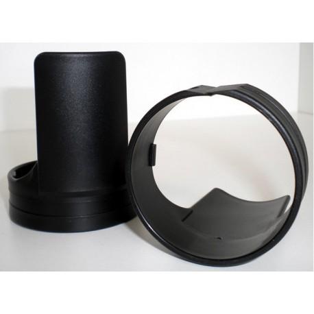 Protections de tubes de fourche ABS noir
