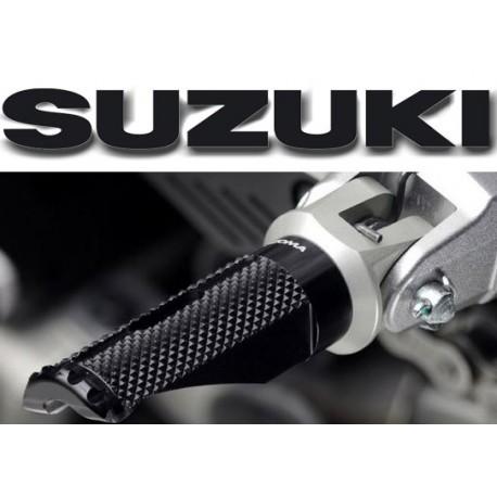 Adaptateurs de reposes pieds Rizoma pilote Suzuki