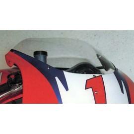 Bulle racing incolore pour Carénage 560 NSR Réplica montée