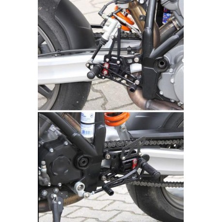 Commandes reculées KTM LSL multi-positions Superduke 990