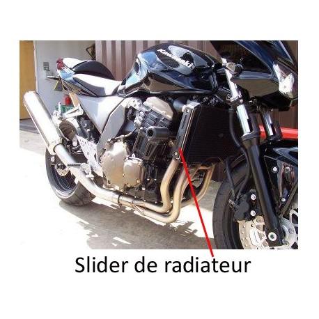 Sliders moteur Kawasaki R & G Racing slider de radiateur Z750 2004-2006 gauche ou droit