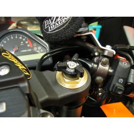 Molettes de réglage de fourche Pazzo Racing montées noir