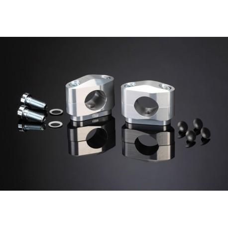 Pontets de guidon ABM diamètre 28,6mm simple vis 10mm hauteur 25mm