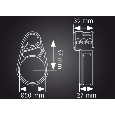 Bracelet seul fin ABM Multiclip 50mm