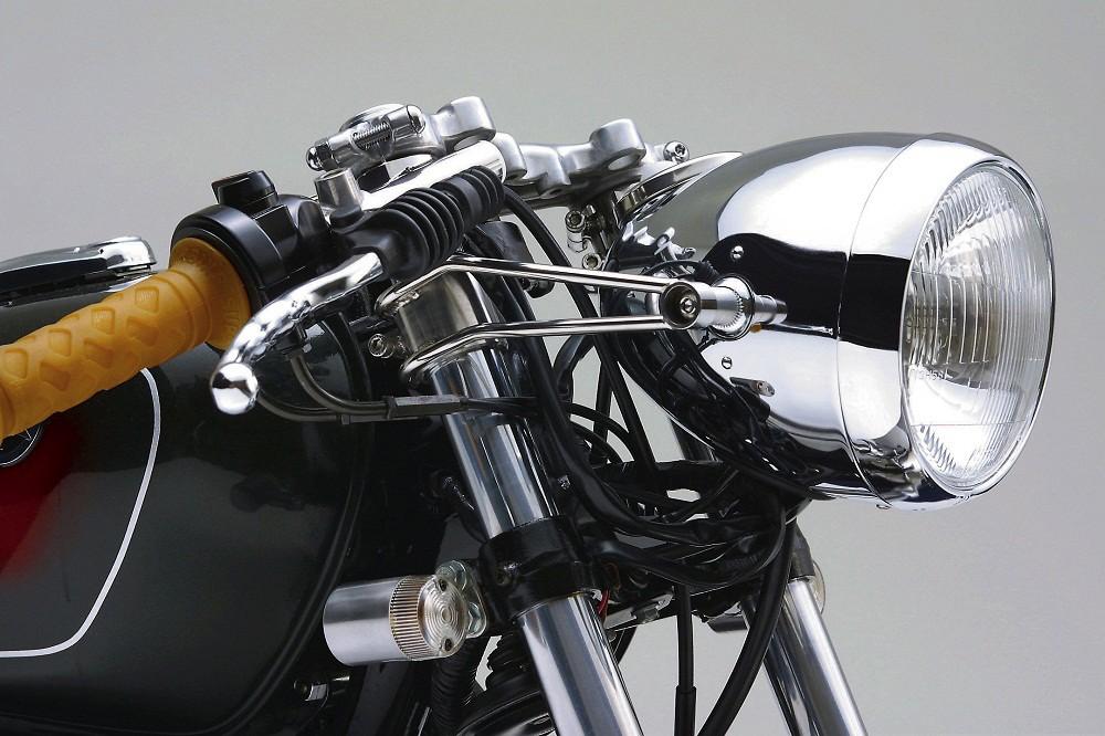 Poignées moto DAYTONA noires vintage café racer