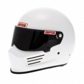 Casque Simpson Bandit blanc brillant profil