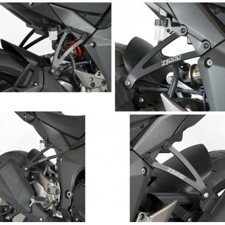 Supports de silencieux R&G Racing double Kawasaki