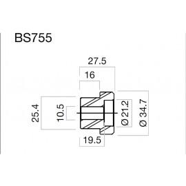 Adaptateur pour rétroviseur Rizoma en bout de guidon par taille BS755