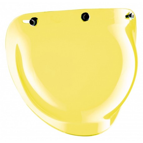 Visière à pressions Bubble Bandit Helmets Jet jaune
