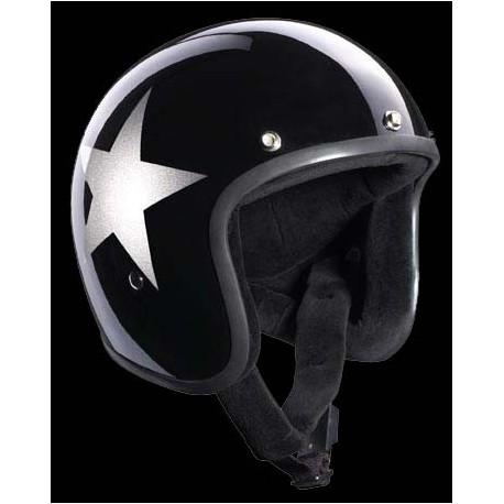 Casques Bandit Helmets Star Jet noir brillant