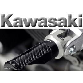 Adaptateurs pilote Kawasaki pour reposes pieds Rizoma