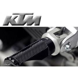 Adaptateurs pilote KTM pour reposes pieds Rizoma