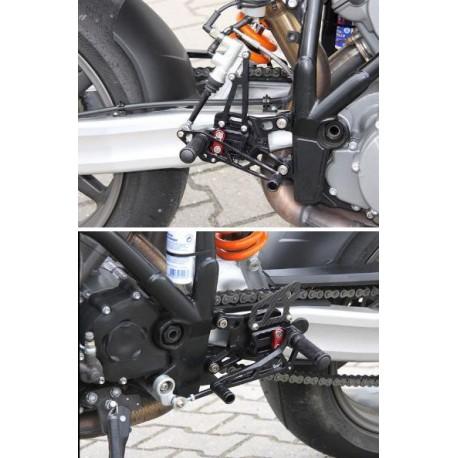 Commandes reculées KTM LSL multi-positions Superduke 990