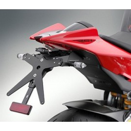 Supports de plaque Rizoma Aprilia gros plan