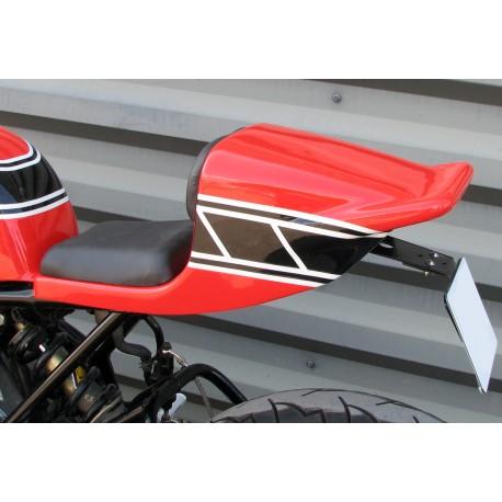 Selle/Coque arrière mono OW31 montée peinte avec sellerie