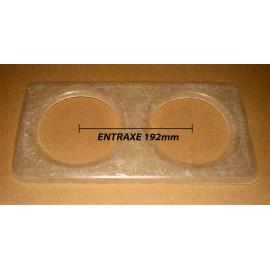 Platine pour optiques 135mm Entraxe 192mm
