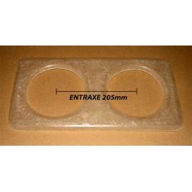 Platine pour optiques 135mm Entraxe 205mm