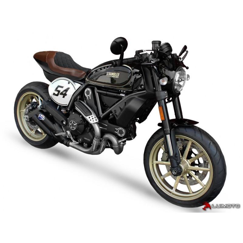 Black Stitch personnalisé convient Ducati 888 Avant Cuir Housse De Siège uniquement