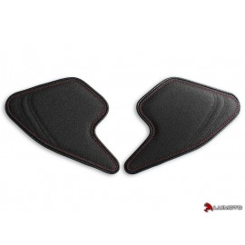 Tank Leaf Ducati Monster 797 821 1200 14-18 latéraux coutures rouge