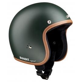 """Casque Bandit Helmets Jet Original vert """"British"""""""