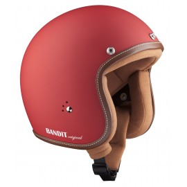 Casque Bandit Helmets Jet Original Rouge mat