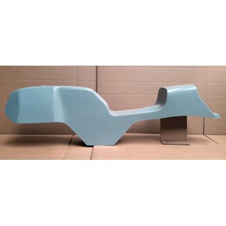 Monocoque cache réservoir + selle polyester type Café Racer 02 vue gauche
