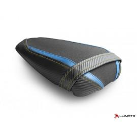 Housse passager GSX-S 750 17-19 Race coutures bleu et fluo