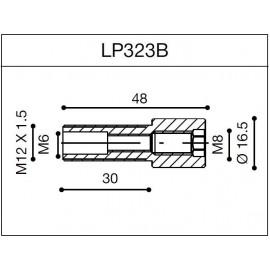 Adaptateur d'embout de guidon Rizoma pour guidon OEM LP323B