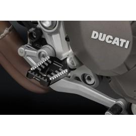 Adaptateurs pilote PE713 pour reposes pieds Rizoma Rallye et Touring sur Ducati Hypermotard 950